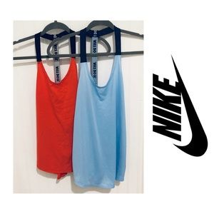 Nike Just Do It 2pc strappy tank top bundle M/L